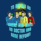 TO BOLDLY GO WHERE AND WHEN NO DOCTOR HAS GONE BEFORE by karmadesigner