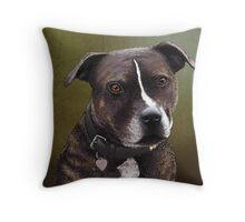 Stafforshire bull terrier 1 Throw Pillow