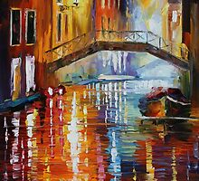 THE CANALS OF VENICE - LEONID AFREMOV by Leonid  Afremov