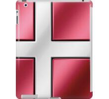 Danish Flag - Denmark - Metallic iPad Case/Skin
