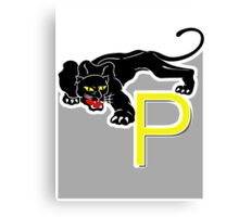 P is for Panther Canvas Print