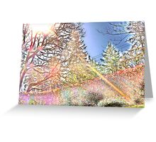 spectral analyst Greeting Card