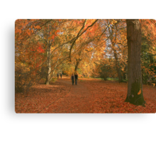 Walking with giants! Canvas Print
