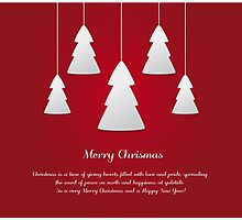 Red and White Christmas Ornaments Photographic Print