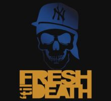 Fresh 'til Death Skulls (BLUE) by Faded Fabrics