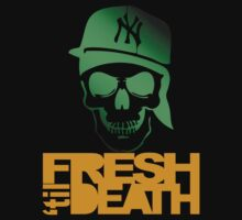 Fresh 'til Death Skulls (GREEN) by Faded Fabrics