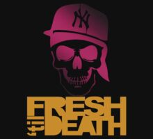 Fresh 'til Death Skulls (PINK) by Faded Fabrics