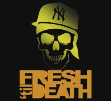Fresh 'til Death Skulls (YELLOW) by Faded Fabrics