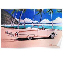 1962 Ford Thunderbird Convertible Roadster Poster