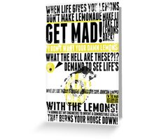 Piece a Week #16: Lemons Greeting Card