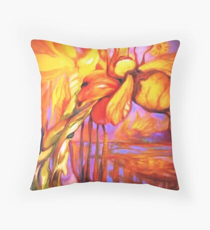 Bumble Bee Homing, All Else Kaleidoscope Throw Pillow