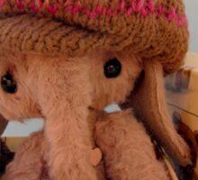 Handmade bears from Teddy Bear Orphans - Archie Elephant Sticker