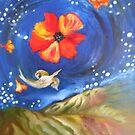Heron-Otter on Wind, Night Sky Pfeiffer Beach by Barbara Sparhawk