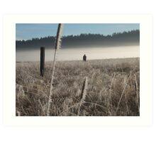 Morning hunt Art Print