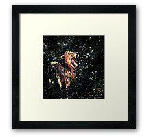 the lion sleeps no more Framed Print