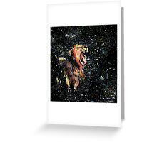 the lion sleeps no more Greeting Card