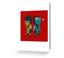 Scorpion & Sub-Zero Greeting Card