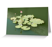 Lotus in the water Greeting Card