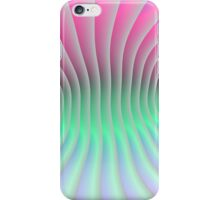 Pink and Green Curve iPhone Case/Skin