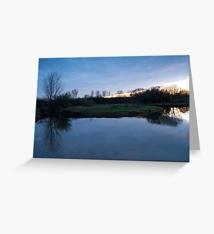 Blue Nature Greeting Card