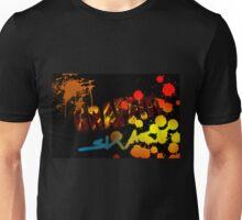Graffiti with paint splatters Unisex T-Shirt