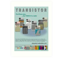 TRANSISTOR Magazine Ad Art Print