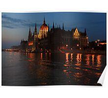 Hungarian Parliament Building at night #2 Poster