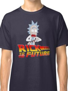 Back to the Future Rick and Morty Classic T-Shirt