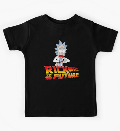 Back to the Future Rick and Morty Kids Tee
