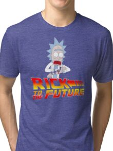 Back to the Future Rick and Morty Tri-blend T-Shirt