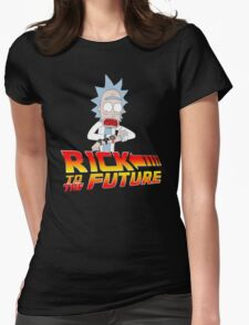 Back to the Future Rick and Morty Womens Fitted T-Shirt