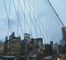 Manhattan as Seen from Brooklyn Bridge by lenspiro