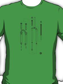 Suspension Fork Diagram T-Shirt