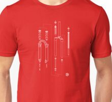 Suspension Fork Diagram Unisex T-Shirt