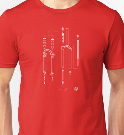 Suspension Fork Diagram Unisex T-Shirt