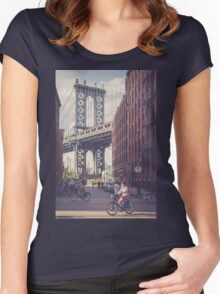 Bike Ride in Dumbo Women's Fitted Scoop T-Shirt