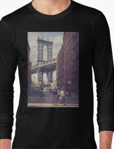 Bike Ride in Dumbo Long Sleeve T-Shirt
