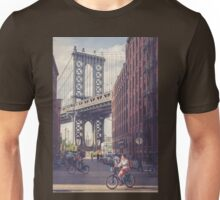 Bike Ride in Dumbo Unisex T-Shirt
