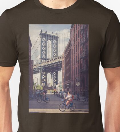 Bike Ride in Dumbo Unisex T-Shirt
