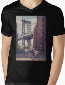 Bike Ride in Dumbo Mens V-Neck T-Shirt