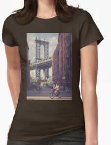 Bike Ride in Dumbo Womens Fitted T-Shirt