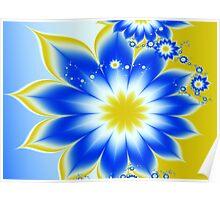 Floral Tropical Breeze  Poster