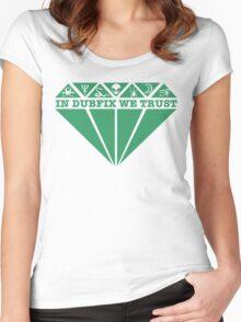 Dubfixx Diamond Green Women's Fitted Scoop T-Shirt