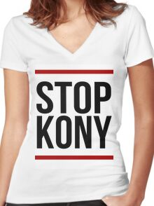 "Kony T-Shirt - ""Stop Kony"" Women's Fitted V-Neck T-Shirt"