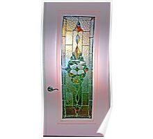 Pink Stained Glass Poster