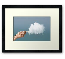 Cloud computing concept Framed Print