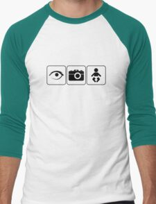 I Photograph Babies Men's Baseball ¾ T-Shirt