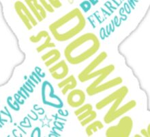 Down Syndrome Sticker