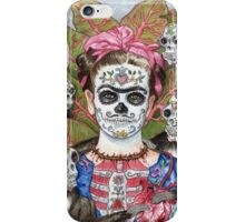 Frida De Los Muertos iPhone Case/Skin