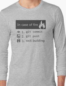 Git on fire Long Sleeve T-Shirt